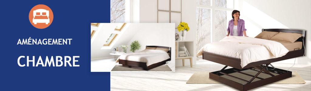 Aménagement de la chambre - installation d'un lit électrique chez Domet'Isle - Lit remboursé par la sécurité sociale